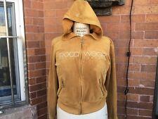 women's size L yellow velour rocawear rhinestone zip up hoodie jacket 2000s