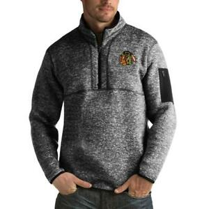 Antigua Chicago Blackhawks Fortune Men's 1/4 Zip Pullover Sweatshirt