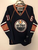 NHL Edmonton Oilers Stoll Hockey Jersey Reebok CCM Youth Size L/XL