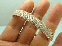Turkish Handmade Jewelry 925 Sterling Silver Zircon Stone Women Bangle
