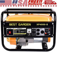 4000W 7.5HP 120V Portable Emergency Gas Generator Engine Recoil Start USA