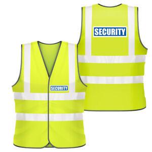 SECURITY Hi Vis Vest - Blue & White Print - All Sizes - Hi Viz Waistcoat