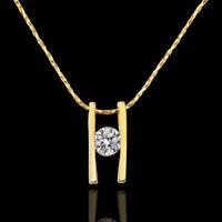 ASAMO Damen Halskette mit Anhänger und Zirkonia Stein Kette HG1595