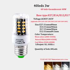 E27 E14 E17 E12 Corn Led Light Lamp 5736 SMD Bulb Candle 40led-140Leds Cool Warm