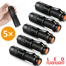 5 x Mini CREE Focus LED Flashlight Torch Q5  Zoomable Light  Adjustable Lamps