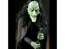 Halloween Haunted Life Size Animated Prop Witch Stirring Spell Brewing Cauldron