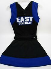"East Pinedale Real HS Cheerleader Uniform Outfit Costume 34"" Top Elastic Skirt"