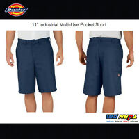 """NWT DICKIES MENS 11"""" Industrial Relaxed Fit Multi-Use Pocket Short LR642 COLORS"""
