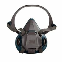3M 6501 Rugged Comfort Half Facepiece Reusable Respirator, Size: SMALL