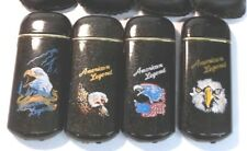 """American Eagle """"American Legend"""" Motorcycle Butane Lighters - lot of 4 w/cases"""