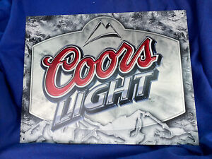 Coors Light Beer Brewery Enamel Sign