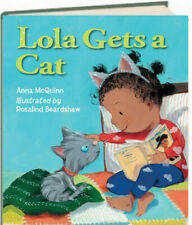 Lola Gets A Cat by Anna McQuinn (Hardcover) FREE shipping $35