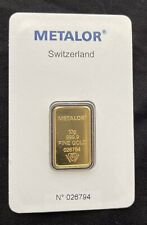 More details for 10 gram gold bar bullion 24ct 99.999 sealed fine gold with certificate