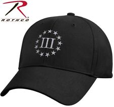 Black 3 Percenter Cap 3% III Percent Ball Hat Patriot Gun Rights 2nd Amendment
