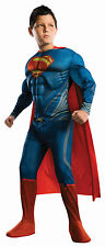 Kids Deluxe Superman Costume Muscle Chest Superhero Child Size Small 4-6