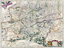 Reproduction carte ancienne - Comté de Hainaut et Namur 1664