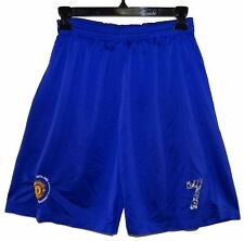 Manchester United 40th Anniversary Soccer Shorts Number 7 Blue Well Broken-In