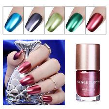 9ml Metallic Nail Polish Mirror Red Blue Green Shiny Varnish Decor NICOLE DIARY