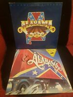 LOT OF 2 ALABAMA Hand-Signed Records/Albums - My Home's in Alabama/Roll On