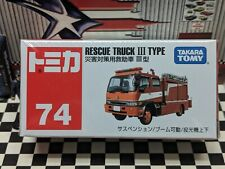 TOMICA #74 RESCUE TRUCK III TYPE FIRE TRUCK NEW IN BOX
