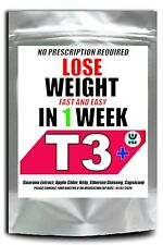 WEIGHT LOSS PILLS T3+ STRONGEST LEGAL NO 1  FAT BURNERS DIET SLIMMING MADE UK
