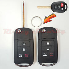 2 New Style Flip Key Modified Case Shell For Toyota Vehicles Remote Key 4 Button