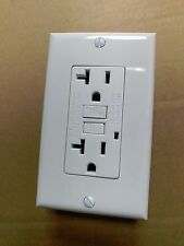 (1 pc) NEW 20A GFCI Outlet Receptacle 20 Amp White w/ LED Light + Wallplate