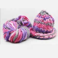 Multi-Colour Chunky Wool Yarn Soft Bulky Arm Knitting Wool Roving Crocheting DIY