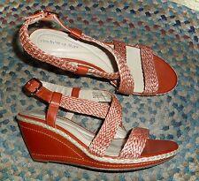Andrew Geller * Felma * Espandrillo Keilabsatz Sandalen in Paprika-Damen 11m