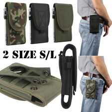Men Belt Clip Pouch Holster Vertical Magnetic Phone Carrying Case Cover Holder