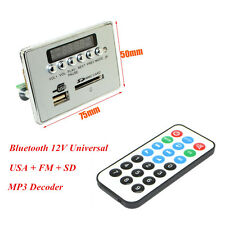 Car 12V Bluetooth Wireless Decoder Board MP3 Audio Module USB SD TF FM Radio Kit