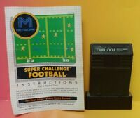 Atari 2600 Super Challenge Football Game & Instruction Manual Tested Works Rare
