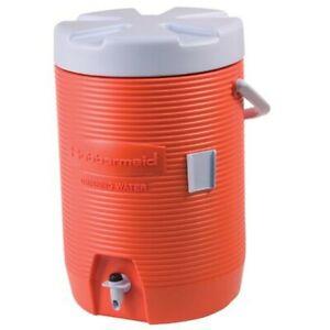 Rubbermaid 1683 Water Cooler - 3 Gallon - Orange NEW