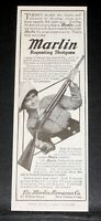 1915 OLD MAGAZINE PRINT AD, MARLIN REPEATING SHOTGUNS, DOUBLE THE PLEASURE!