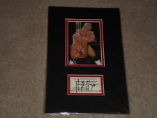 """""""HOLLYWOOD"""" HULK HOGAN WCW NWO SIGNED AUTOGRAPHED 8X13 DOUBLE MATTED DISPLAY"""