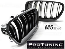 M5 M Performace Black Front Grill Kidney Grille vent noses grille double stripe