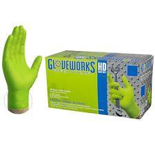 Gloveworks Verde industrial libre de látex Guantes Desechables de Nitrilo (caja de 100)