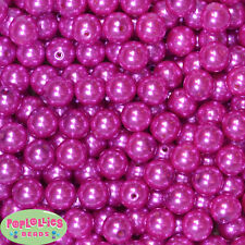 14mm Rose Pink Acrylic Faux Pearl Bubblegum Beads Lot 20 pc.chunky gumball