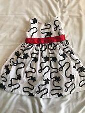 Blueberi Boulevard Black White Red Holiday Toddler Girl Dress Size 4T