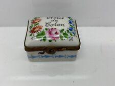 VTG Limoges Noces De Coton Snake Latch Porcelain Hinged Trinket Box Signed L.F