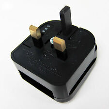Fused Europe Euro EU 2 pin to UK 3 pin Plug Adapter Converter for Power Socket