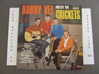 BOBBY VEE MEETS THE CRICKETS ORIGINAL MONO LP LRP 3228