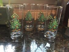 New listing Spode?*Christmas Tree High Ball/ Water 16 oz Glasses Set of 4, Holiday Party