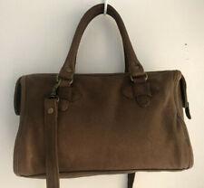 Wilson's Leather Adventure Bound Brown Barrel Bag Cross Body Fall Fashion