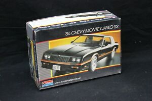 Monogram '86 CHEVY MONTE CARLO SS 1:24 Scale Vintage Model Kit Started