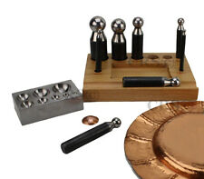 LARGE 10 PC JEWELERS TOOL SET SILVERSMITH COPPER CRAFT DOMING DAPPING FORMING
