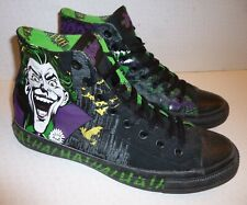 Converse The Joker Batman All Star DC comic CT Black Hi Top Trainers size UK 9
