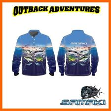 SAMAKI BLUEWATER LONG SLEEVE FISHING SHIRT - ADULT SIZE - XL