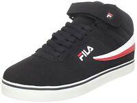 Men's Fila® F13 Lite Blk/Wht/Ch Red Athletic Retro Shoes Medium Width Size