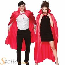 adulte rouge de Luxe Satin cape déguisement HALLOWEEN CAPE VAMPIRE costume